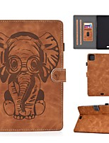 cheap -Case For Apple iPad Air/iPad Mini 3/2/1/4/5 Card Holder / Embossed / Pattern Full Body Cases Solid Colored / Animal PU Leather For iPad Air 10.5 2019/iPad 10.2/Pro 11 2020/iPad 2017/iPad 2018