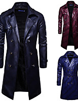 cheap -Plague Doctor Retro Vintage Gothic Steampunk Coat Masquerade Men's Costume Burgundy / Royal Blue / Navy Blue Vintage Cosplay Event / Party Long Sleeve
