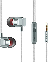 cheap -KUPENG R11 Wired In-ear Earphone Wired Stereo Dual Drivers with Microphone with Volume Control InLine Control for Sport Fitness