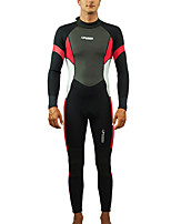 cheap -HISEA® Men's Full Wetsuit 3mm SCR Neoprene Diving Suit Long Sleeve Autumn / Fall Spring Summer / Winter / Stretchy