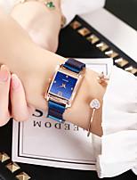 Недорогие -Дамы Кварцевые Цирконий Элегантный стиль Мода Синий Серебристый металл Коричневый сплав Китайский Кварцевый Розовое Золото Лиловый Красный Повседневные часы Имитация Алмазный 1 ед. Аналоговый