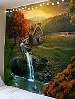 Недорогие -фэнтези лес замок гобелен гобелен гобелен дом спальня спальня фон декор искусство хиппи гобелен настенный ковер психоделический гобелен