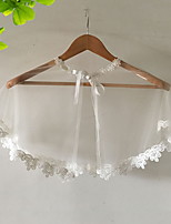 cheap -Sleeveless Scarves Tulle Wedding Shawl & Wrap With Ruffle