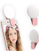 Недорогие -Мини мобильный телефон заполнить свет tiktok YouTube Light фотографии красоты светодиодные мигалки мини селфи свет с мерцающим сигналом SOS