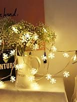 Недорогие -6м Гирлянды 40 светодиоды Тёплый белый Для вечеринок / Декоративная 5 V