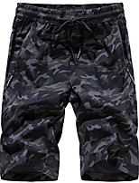 "cheap -Men's Hiking Shorts Camo Summer Outdoor 10"" Standard Fit Breathable Quick Dry Sweat-wicking Comfortable Shorts Bottoms Camping / Hiking Hunting Fishing Grey Green M L XL XXL XXXL / Wear Resistance"