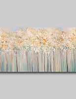 cheap -Oil Painting Hand Painted - Abstract Comtemporary Modern Stretched Canvas Blossoms Trees
