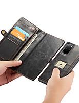 Недорогие -Caseme 2-в-1 роскошный деловой магнитный флип кожаный чехол для samsung galaxy s20 / s20 plus / s20 ultra с ремешком для карт памяти слот подставка для телефона съемный чехол для телефона