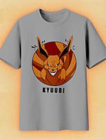 Недорогие -Вдохновлен Наруто Naruto Uzumaki Аниме Косплэй костюмы Японский Косплей футболка Футболка Назначение Муж. Жен.