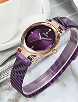 cheap -Women's Steel Band Watches Luxury Fashion Stainless Steel Japanese Quartz Purple Gold Green Water Resistant / Waterproof 30 m 1 pc Analog One Year Battery Life