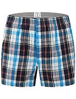 cheap -Men's Print / Basic Boxers Underwear - Plus Size Mid Waist Gray M L XL