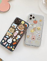 cheap -For Apple iPhone 11 11pro 11promax 8p X XS XSMAX XR 6P 6 7 8 simple bear pattern high transparent TPU material mobile phone case