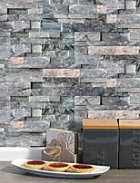 cheap -20x10cmx9pcs Dark Gray Stone Brick Wall Stickers Retro Oil-proof Waterproof Tile Wallpaper For Kitchen Bathroom Ground Wall House Decoration