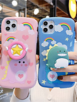 cheap -Case For Apple iPhone 11 11 Pro  11 Pro Max Little pretty waist pink blue dinosaur pattern Creative stand Painting process TPU material Glossy Little Waist phone case