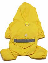 Недорогие -Маленькие зверьки Дождевик Одежда для собак Желтый Красный Зеленый Костюм молодого животного папиллон пластик камуфляж На каждый день XS S M L XL XXL