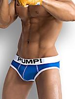 cheap -Men's Basic Briefs Underwear - EU / US Size Mid Waist Yellow Blushing Pink Red M L XL