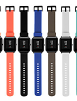 Недорогие -20мм ремешок на запястье для xiaomi amazfit bip быстрый релиз спортивный браслет силиконовый ремешок для часов