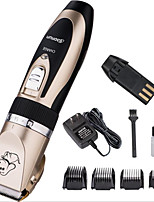 cheap -Rodents Dog Cat Cleaning Plastic & Metal Clipper & Trimmer Dog Clean Supply Durable USB Rechargeable Pet Grooming Supplies Gold Five-piece Suit
