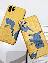 cheap -Case For Apple iPhone 11 / iPhone 11 Pro / iPhone 11 Pro Max Shockproof / IMD / Pattern Back Cover Solid Colored / Cartoon PC