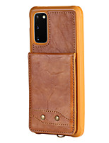 cheap -Case For Samsung Galaxy S20 Plus / S20 Ultra / S20 Shockproof Back Cover Solid Colored PU Leather