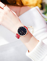 cheap -Women's Quartz Watches Sparkle Fashion Genuine Leather Japanese Quartz Red Water Resistant / Waterproof 30 m Analog One Year Battery Life / Stainless Steel