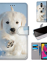 cheap -Case For Motorola Moto G8 Play / Moto G8 Plus / MOTO E6 plus Wallet / Card Holder / with Stand Full Body Cases Snow Dog PU Leather / TPU for MOTO E6 Play / MOTO G7 / MOTO G7 Plus