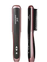 cheap -KSKIN Multifunctional Hair Straightener Brushes Beard Straightener Styler Brush Men Heat Hair Ceramic Curler Electric Straightener Hot Comb Hair Care Machine
