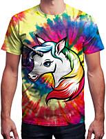 Недорогие -Вдохновлен Галактика Unicorn Как у футболки Терилен единорогом Рисунок Футболка Назначение Муж. / Жен.