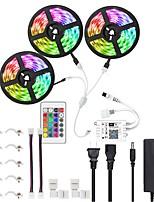 Недорогие -KWB 15 м 3 * 5 м Wi-Fi Smart светодиодные полосы комплект водонепроницаемый RGB TIKTOCK светодиоды 450 светодиодов 5050 управляемый телефоном светодиодные полосы Kittimer светодиодные ленты Lightworks