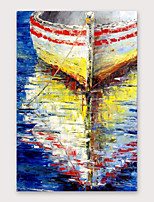 cheap -IARTS®Hand PaintedShip shadow  Oil Painting   with Stretched Frame For Home Decoration