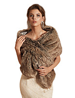 cheap -Sleeveless Shawls Faux Fur Party / Evening Shawl & Wrap / Women's Wrap With Button