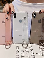 Недорогие -чехол для карты сцены Apple iphone 11 11 pro 11 pro max x xs xr xs max 8 блеск чистого цвета полупрозрачный материал тпу четыре угла противоскользящий кронштейн для браслета универсальный чехол для