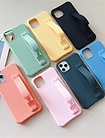 Недорогие -чехол для apple, iphone 11 11 про 11 про макс сплошной цвет творческий стенд тпу материал четыре угла падения доказательство царапинам чехол для телефона