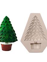 Недорогие -3d сосна рождественская елка силиконовые украшения торт плесень diy 1 шт.