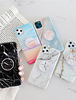 cheap -Case For Apple iPhone 11 /11 Pro /11 Pro Max/XS Max/XS/XR/X/8P/7P/8/7 Shockproof / with Stand / IMD Back Cover Marble TPU