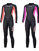 cheap -ZCCO Women's Full Wetsuit 3mm SCR Neoprene Diving Suit Long Sleeve Back Zip Knee Pads Solid Colored Autumn / Fall Spring Summer / Winter / Stretchy