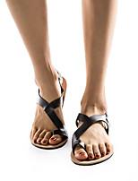cheap -Women's Sandals Flat Sandal Spring & Summer Flat Heel Open Toe Daily Office & Career PU Camel / Black / Coffee