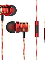 Недорогие -KUPENG P20 Наушники-вкладыши Проводное Стерео Двойные драйверы С микрофоном С регулятором громкости HIFI Спорт и фитнес