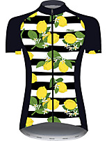cheap -21Grams Women's Short Sleeve Cycling Jersey Black / White Fruit Bike Jersey Top Mountain Bike MTB Road Bike Cycling UV Resistant Breathable Quick Dry Sports Clothing Apparel / Stretchy