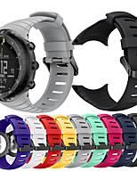 Недорогие -Ремешок для часов для SUUNTO CORE Suunto Спортивный ремешок / Классическая застежка / Современная застежка силиконовый Повязка на запястье
