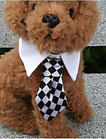 cheap -Rodents Dog Cat Tie / Bow Tie Dog Clothes White Costume Polyster Plaid / Check Casual / Daily British