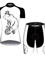Недорогие -21Grams Жен. С короткими рукавами Велокофты и велошорты Черный / Белый Животное Медведи Велоспорт Наборы одежды Дышащий Быстровысыхающий Ультрафиолетовая устойчивость Впитывает пот и влагу Виды спорта
