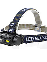 cheap -QC101 Headlamps Waterproof Quick Release 800 lm LED LED 2 Emitters 3 Mode with Battery and USB Cable Waterproof Quick Release Camping / Hiking / Caving Everyday Use Diving / Boating USB White Light