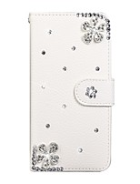 cheap -Case For Samsung Galaxy A50/Galaxy A40/Galaxy A70 Wallet / Card Holder / Rhinestone Full Body Cases Solid Colored PU Leather For Galaxy A20E/A01/A11/A21/A41/A51/A71/S20 Ultra/S20 Plus