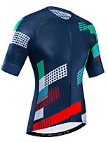 cheap -21Grams Women's Short Sleeve Cycling Jersey Red+Blue Bike Jersey Top Mountain Bike MTB Road Bike Cycling UV Resistant Breathable Quick Dry Sports Clothing Apparel / Stretchy / Reflective Strips