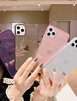 cheap -Case for Apple scene map iPhone 11 11 Pro 11 Pro Max X XS XR XS Max 8 pure color glitter translucent TPU material all-inclusive mobile phone case HRS