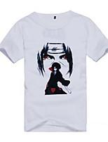 Недорогие -Вдохновлен Наруто Hatake Kakashi Naruto Uzumaki Аниме Косплэй костюмы Японский Инвентарь Футболка Назначение Муж. Жен.