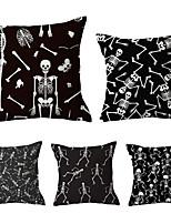 Недорогие -5 шт. Декоративная подушка простой классический 45 * 45 см полиэстер наволочка простой современный новый китайский стиль диван модель комнаты декоративная подушка свет роскошная мраморная полоса