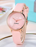 cheap -Ladies Quartz Watches Casual Fashion Black Red Pink Alloy Chinese Quartz Light Brown Lace Blushing Pink Red New Design Casual Watch 1 pc Analog One Year Battery Life