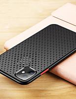 Недорогие -iphone11pro макс сетка дышащее охлаждение чехол для мобильного телефона xs max силиконовый защитный чехол реальная машина отверстие открытия 6/7 / 8plus защитный чехол от падения